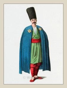 Muslim man. Bosnia costume. Ottoman empire historical clothing
