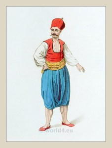 Greek sailor costume. Turkish Sultan.Ottoman empire historical clothing