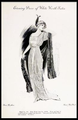France Fin de siècle fashion. French haute couture gown. Belle Epoque costume by Couturier by Charles Frederick Worth