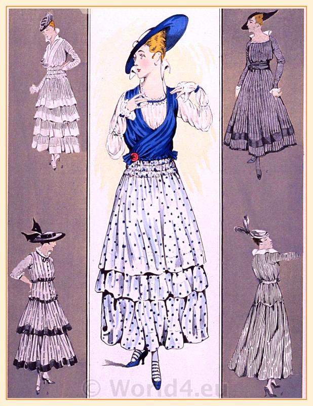Belle Epoque, fashion, Flounce dresses
