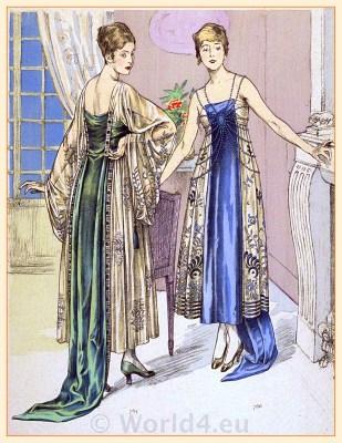Vintage cocktail dresses. Evening dresses. Broderies de Maurice Lefranc.
