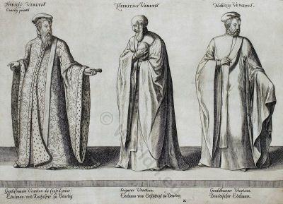 Italian Renaissance. Venetian Nobility. 16th century fashion.