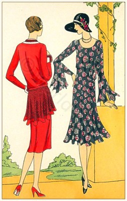 Art deco, costumes, Flapper, fashion, French, 1920s, Brandt, Drecoll-Beer