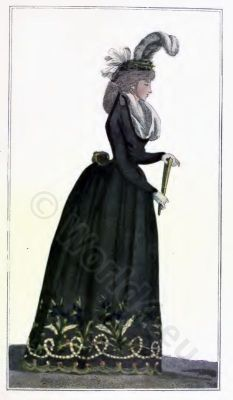French fashion history 1793. Directory dresses. France Revolution costume