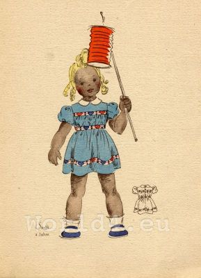 German baby girl costumes and hairstyle. What did children wear in the 1940's