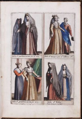 italian renaissance costumes. Venice. 16th century fashion. Nobility court dress