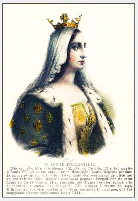 Blanche of Castille, Medieval, Burgundy, costume, Middle ages,