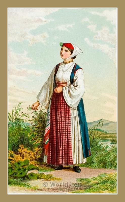 Sinj, Croatia, traditional, national costumes, Balkans, Dalmatia, Serbian