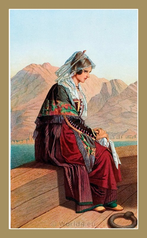 Kotor, Montenegro, traditional, national costumes, Balkans, Dalmatia, Serbian
