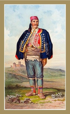 Traditional Serbian National Costumes. Man Folk dress from Benkovac Croatia. MUŠKA NOŠNJA IZ BENKOVCA