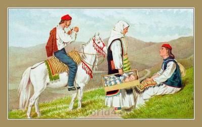 Traditional Serbian National Costumes. Folk Costumes from Knin, Croatia. NOŠNJE IZ KNINSKE OKOLICE. Kninska tvrđava