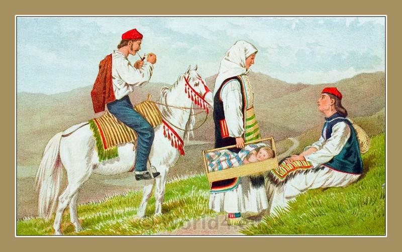 traditional, costumes, Knin, Dalmatia, Croatia,