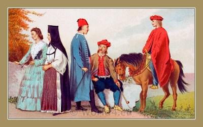 Traditional Serbian National Costumes. Folk Costumes from Sinj Croatia. NARODNE NOŠNJE IZ SINJA