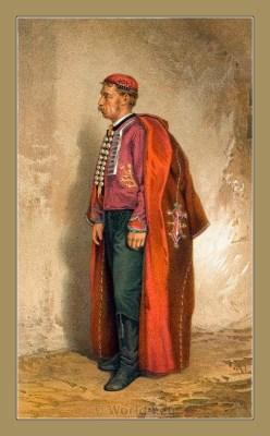 Hrvatski nošnji otoka Paga. Croatian national costumes. Balkans folk dresses.