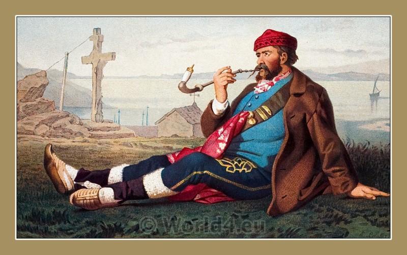 traditional, costumes, Karlobag, Dalmatia, Croatia,