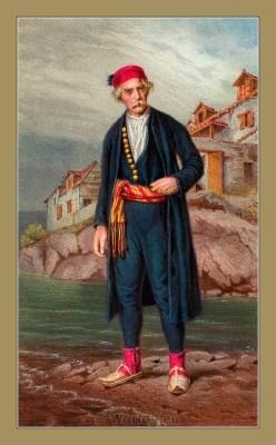 Traditional Serbian National Costumes. Folk Costumes from Kaštela Croatia. MUŠKA NOŠNJA IZ KAŠTELA