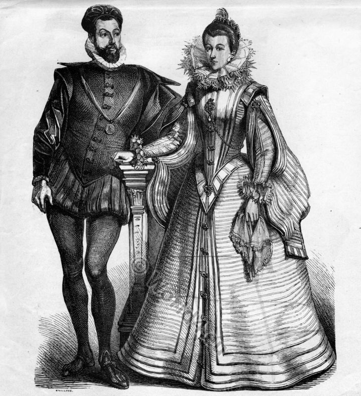 The Spanish fashion in 16th century. | Costume History