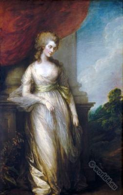 Costume History. Duchess of Devonshire. Regency fashion