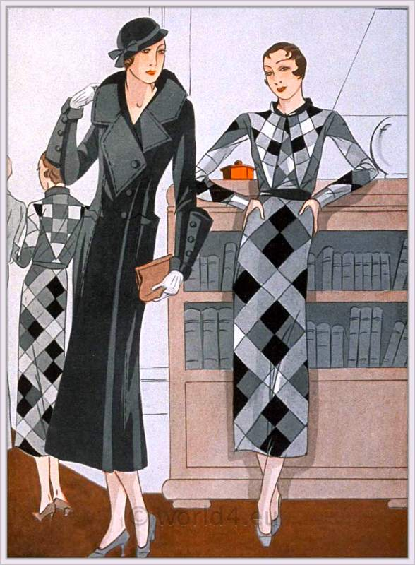french art deco costumes by lucile paray 1930s costume history. Black Bedroom Furniture Sets. Home Design Ideas