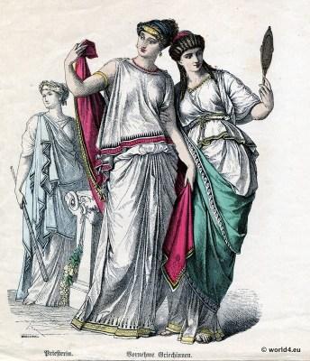 Olympias.Alexander the Great. Greek Chiton. Ancient Greek costumes.Kolpos.