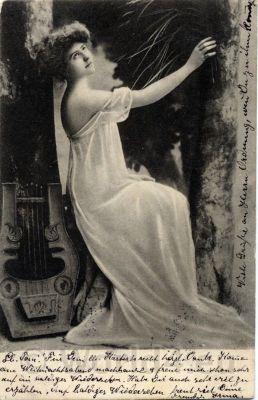 Greek tunic. German Art Nouveau reform clothing in 1900