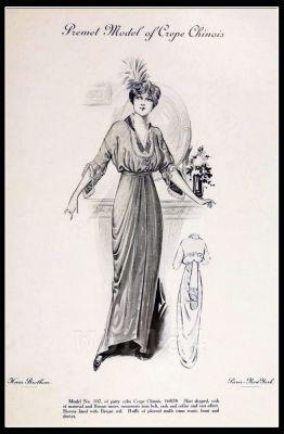 Couturier Premet. Fin de siècle fashion. Haute couture gown. Belle Epoque.