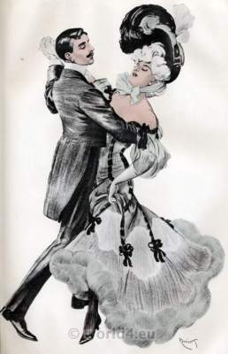 Belle Epoque Fashion Costumes. Art nouveau clothing. Fin de siècle dresses.