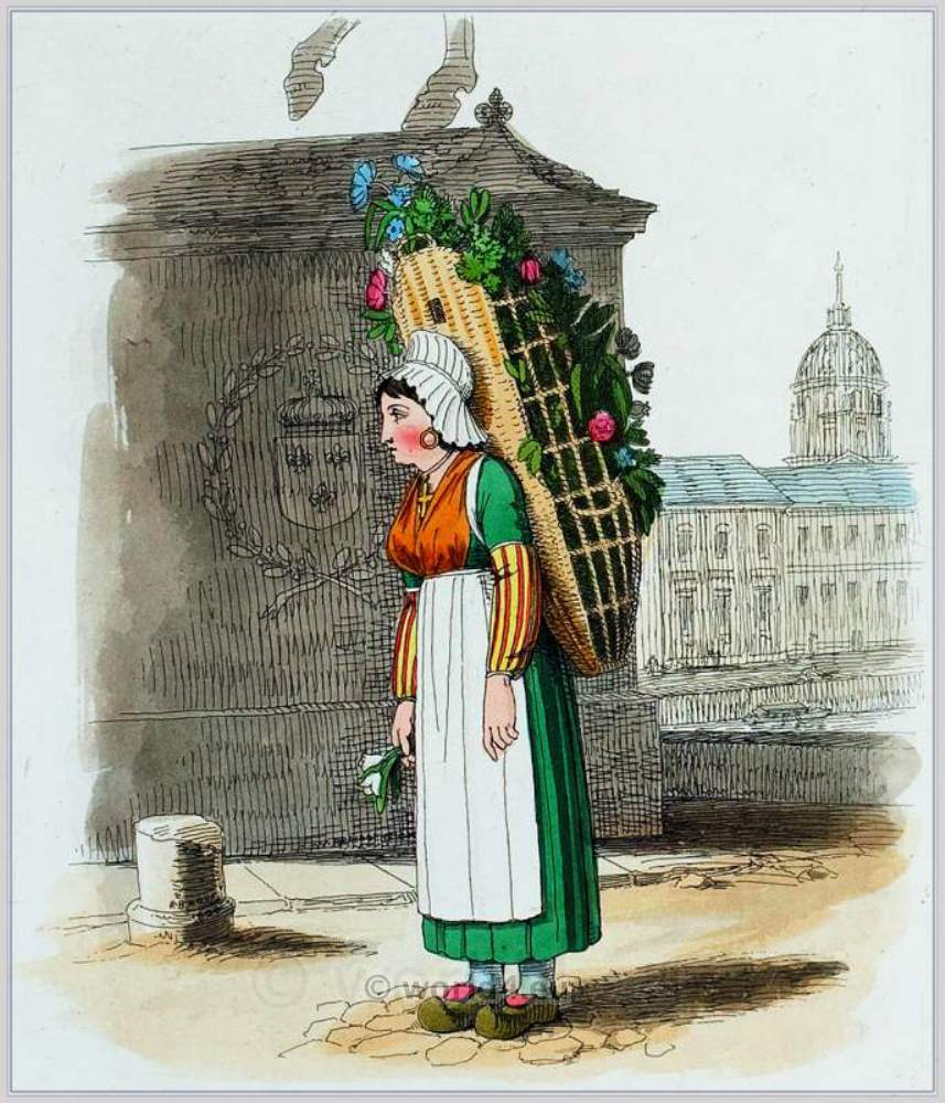 Flower, girl, clothing, Paris, Traditional, French national costumes,