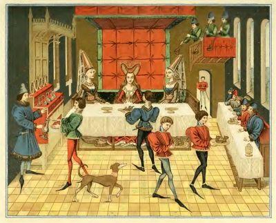 Burgundy, fashion, Medieval, court, etiquette, Middle Ages, Court dresses, 15th century, costumes,