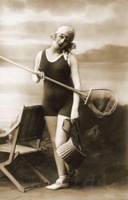Women's swimwear models. Elegant one-piece swimsuits.