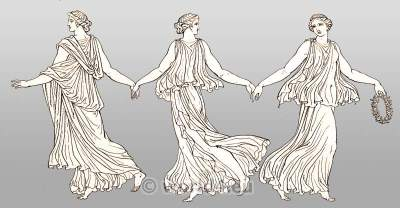 Ancient Costume History. Greek costume. Dancing girl