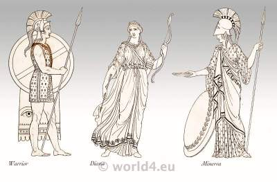 Roman Women Hair styles and headdresses. Ancient Roman Costumes. Classical antiquity, ancient dresses from Roma.