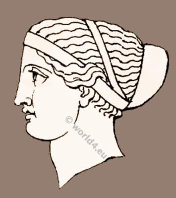 Ancient Greek headdresses, grecian hair styles and headdress. ancient greece clothing, greek costume