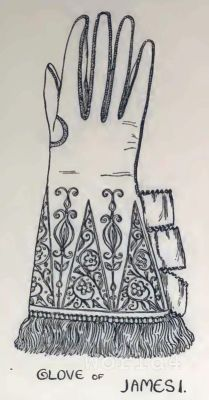 Medieval England fashion. Vintage Costumes. Nobility Accessoires Gloves. Glove of Queen Elizabeth