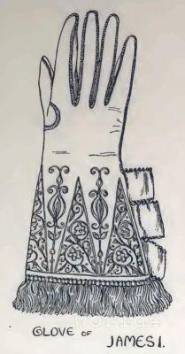 Medieval England fashion. Vintage Costumes. Nobility Accessoires Gloves. Glove of Queen Elizabeth