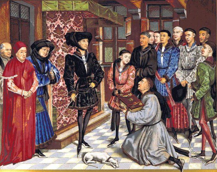Philippe le Bon, Charles le Téméraire, Hainaut, Chroniques, costumes, middle ages