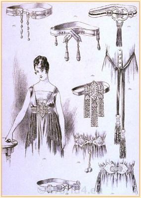 Vintage Fashion. French Accessoires belts, Art deco