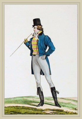 Cheveux a l'Enfant. Dandy Costume. French Incroyables. France directoire, regency era fashion.