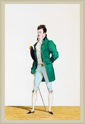 Dandy Costume Chevelure. France directoire, Incroyable. Horace Vernet.