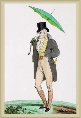 French incroyable costume. France revolution fashion. Directoire, directory dresses and style.