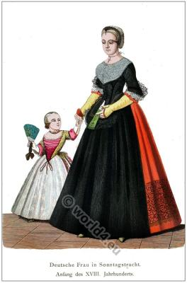 Women and child dresses.