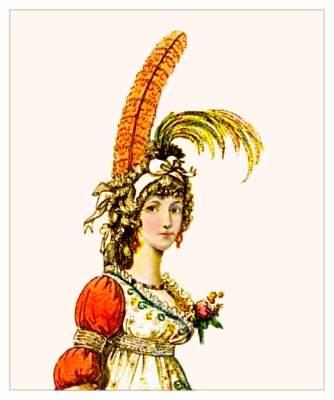 Heideloff Gallery of Fashion. Jane Austen style. Regency costumes.