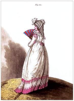Regency Ranelagh Gardens. Georgian fashion. Jane Austen style. Regency costumes.