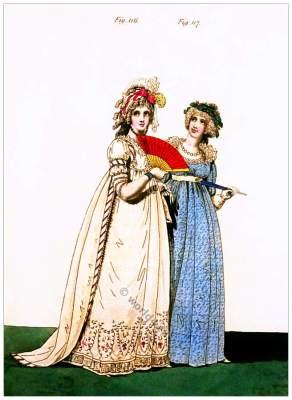 Regency Queen. Georgian fashion. Jane Austen style. Regency costumes.