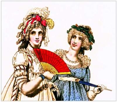 Regency Queen Elizabeth ruff. Georgian fashion. Jane Austen style. Regency costumes.