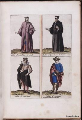Venice fashion. Italy renaissance. 16th century costumes. Nobel men. mens dress