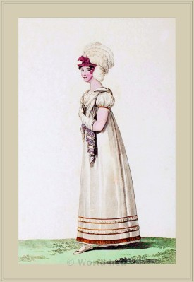 Costume Toilette de Spectacle. Merveilleuses. France directoire, regency era fashion.