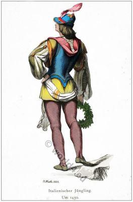 Italy 15th century fashion. Renaissance Costume.