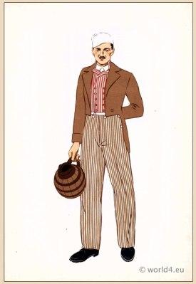 Men's Folk Costume 1939 French Fashion Folio Pochoir