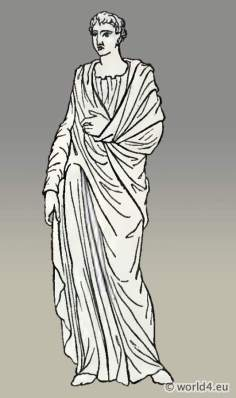 Ancient Roman clothing. Costume Long-sleeved tunic.